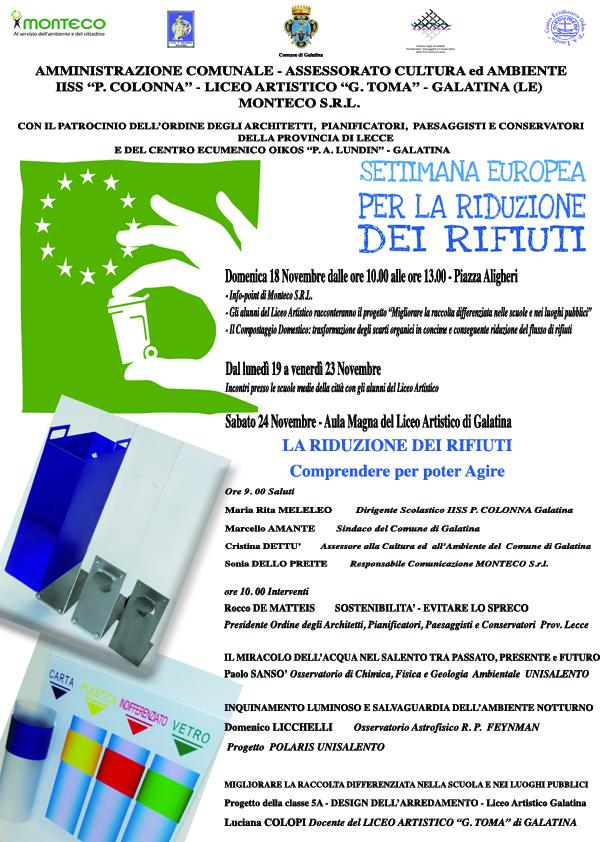 SERR-Settimana Europea per la Riduzione dei Rifiuti.