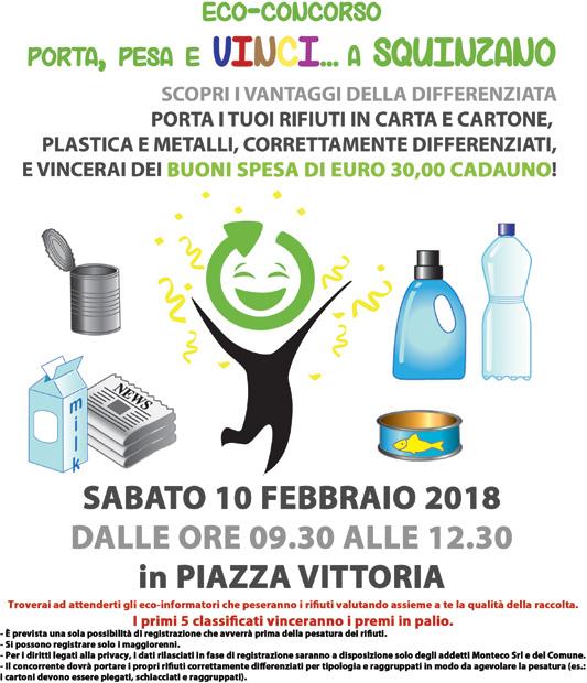 Squinzano:1^ edizione dell'eco-concorso Porta, Pesa e Vinci